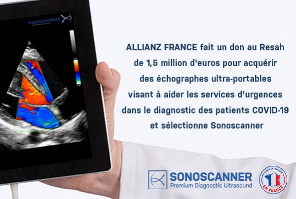 Sonoscanner lutte contre COVID-19 avec Allianz France et Resah